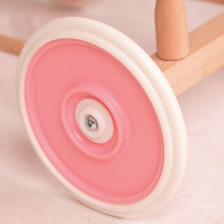 Doll carriage basket pink