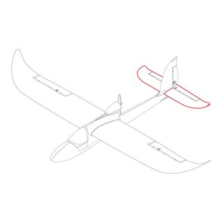Tailplane red Sky Surfer