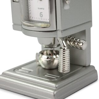 Siva Clock Coffee machine silver