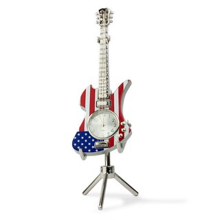 Siva Clock Guitar Stars & Stripes