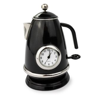 Siva Clock Teapot black