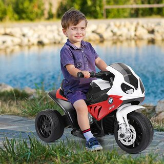 Child motorcycle electric BMW red 6V 4AH leather seat