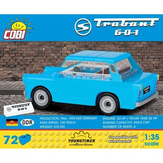 Cobi Trabant 601 Auto Youngtimer Collection Konstruktionsspielzeug 1:35 DDR